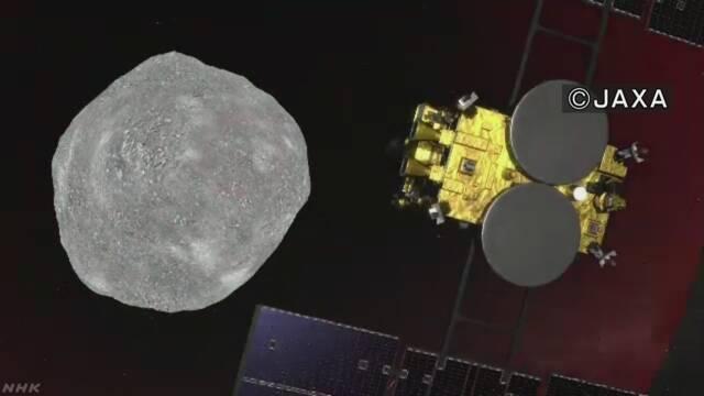 「はやぶさ2」が地球から3億kmの小さい星に着く