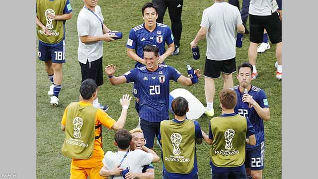 ワールドカップ 日本が決勝トーナメントに進む