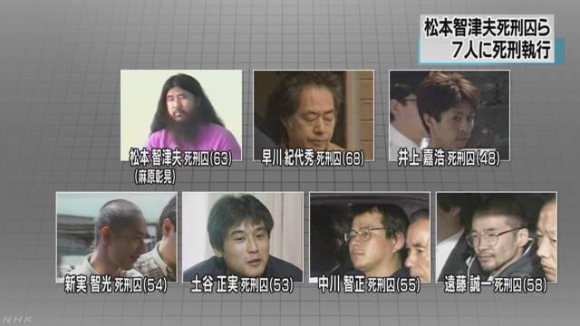 オウム真理教 松本智津夫など7人が死刑になる