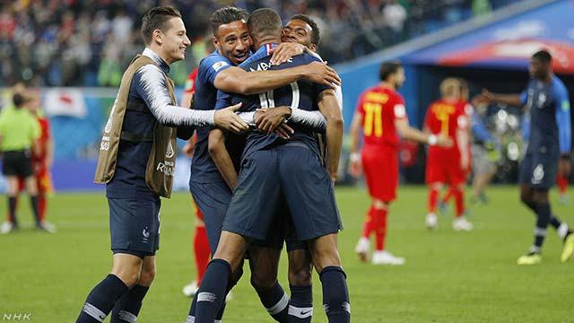 サッカーW杯 フランス 3大会ぶり決勝進出