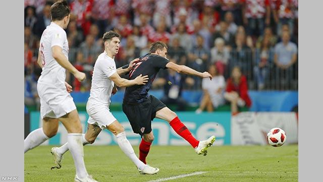 サッカーW杯 クロアチアが初の決勝進出 フランスと対戦へ