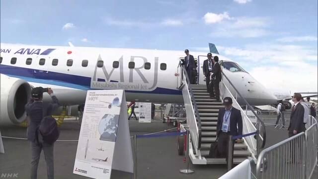 国産初ジェット旅客機MRJ 英 航空ショーでデモ飛行