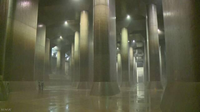地下にある大きな放水路 多くの人に見に来てもらいたい