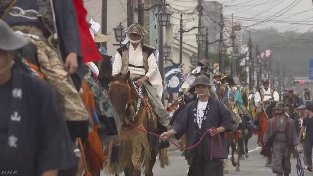 7年前の原発の事故のあと福島県浪江町で初めて「相馬野馬追」