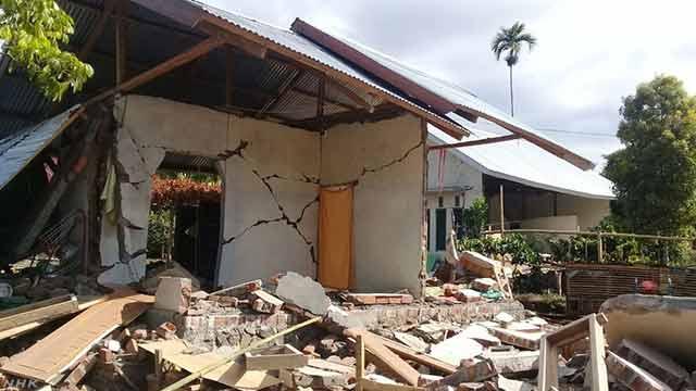 インドネシアのロンボク島でまた強い地震