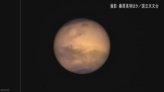 火星 地球ととても近くなって明るく光る