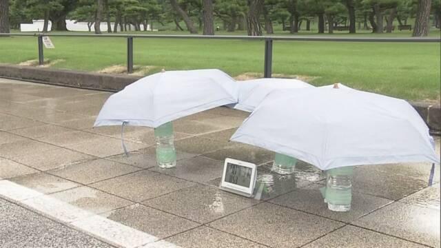 東京オリンピック 道に水をまくとどのくらい涼しくなるか