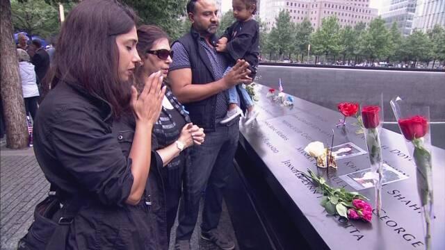 アメリカ 17年前のテロで亡くなった人のために祈る