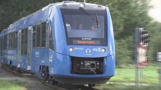 ドイツ 世界で初めて水素からつくった電気で走る電車
