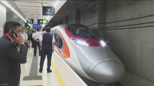 香港と広州結ぶ高速鉄道開業で記念式典