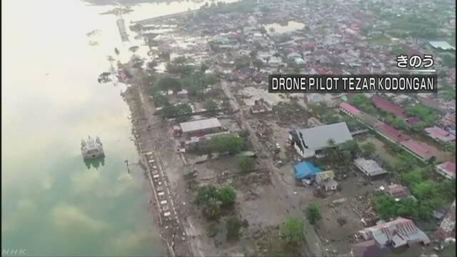 インドネシア 地震と津波で死者420人に