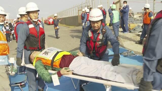 羽田空港 航空機事故を想定し訓練 外国人への対応も確認