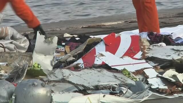 インドネシア 飛行機が落ちて189人が亡くなった可能性