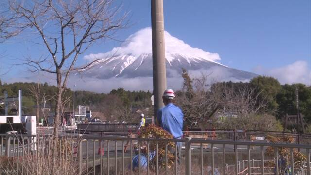 電柱がなくなって富士山が前よりきれいに見える