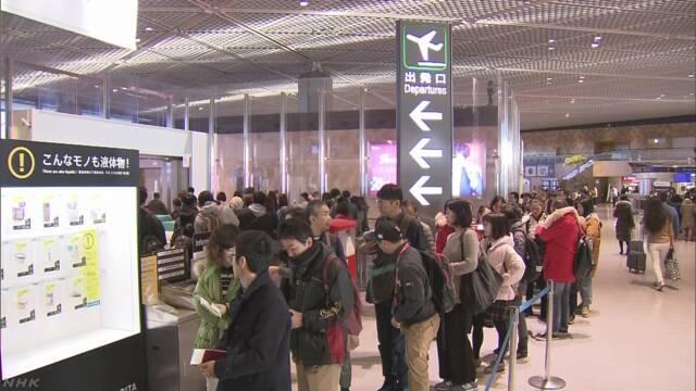 去年の日本人出国者は1895万人余 6年ぶり過去最高に
