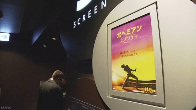 去年収入が1番多かった映画は「ボヘミアン・ラプソディ」