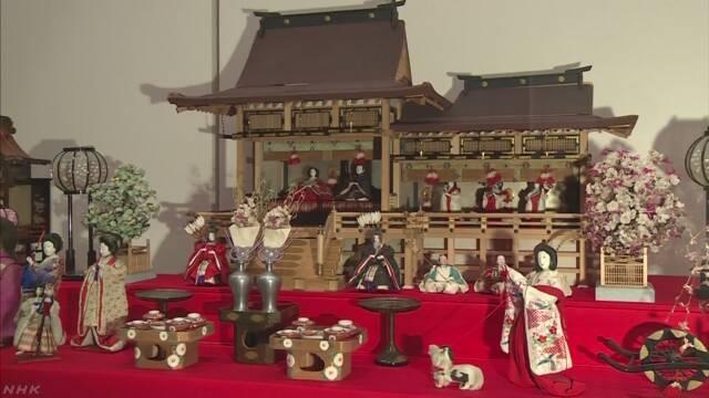 滋賀県彦根市 江戸時代のひな人形の展覧会