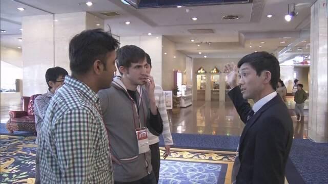 札幌市 地震のとき外国人の観光客に情報を伝える訓練