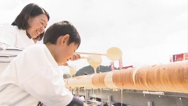 世界でいちばん長い20m以上のバウムクーヘンを作る
